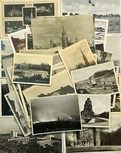 Photo-postcards-World-Cities-Lot-36-pcs-Vintage-postcard-Black-amp-white-photos