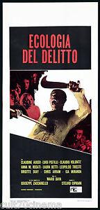 ECOLOGIA DEL DELITTO REAZIONE A CATENA.LOCANDINA CINEMA MARIO BAVA THRILLER 1971