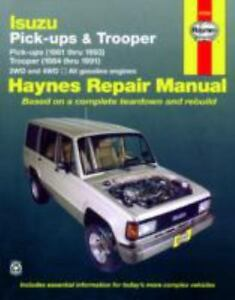 Haynes manuals isuzu pickups and trooper 1981 1993 by john haynes haynes manuals isuzu pickups and trooper 1981 1993 by john haynes and larry warren 1990 paperback fandeluxe Gallery