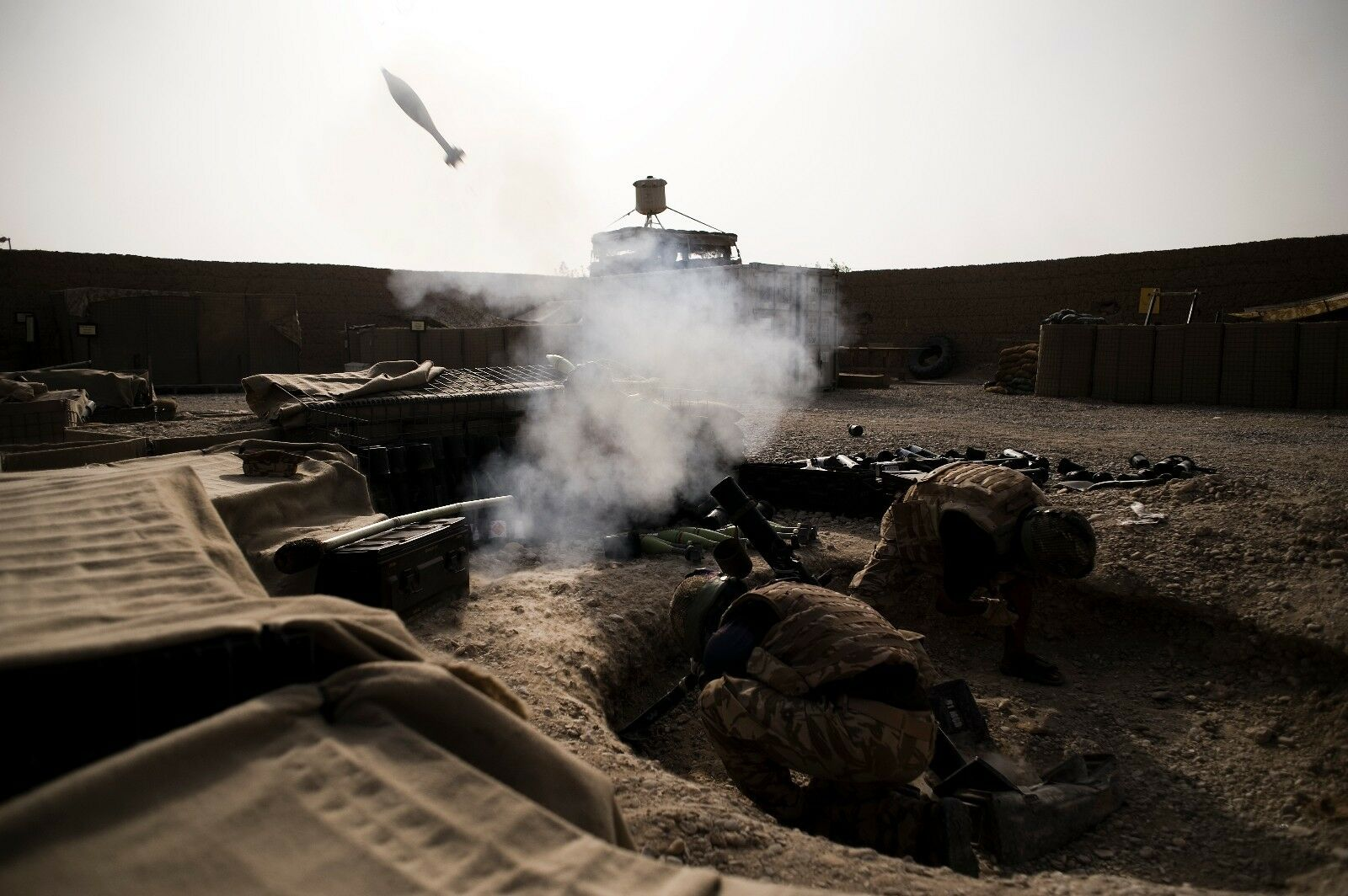 BRITISH ARMY 1 GURKHA REG  FIRING 81MM MORTAR  Military Photo Print