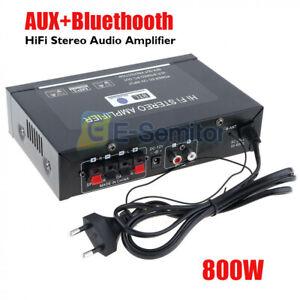AUX-Bluetooth-800W-HIFI-Digital-Stereo-Audio-Amplifier-SD-FM-Radio-Mic-for-Car