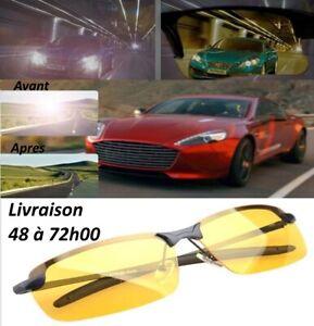 7989d3884e Chargement de l'image en cours Lunettes-Mixtes-Vision-Nocturne-anti- eblouissement-Polarisees-jaunes-