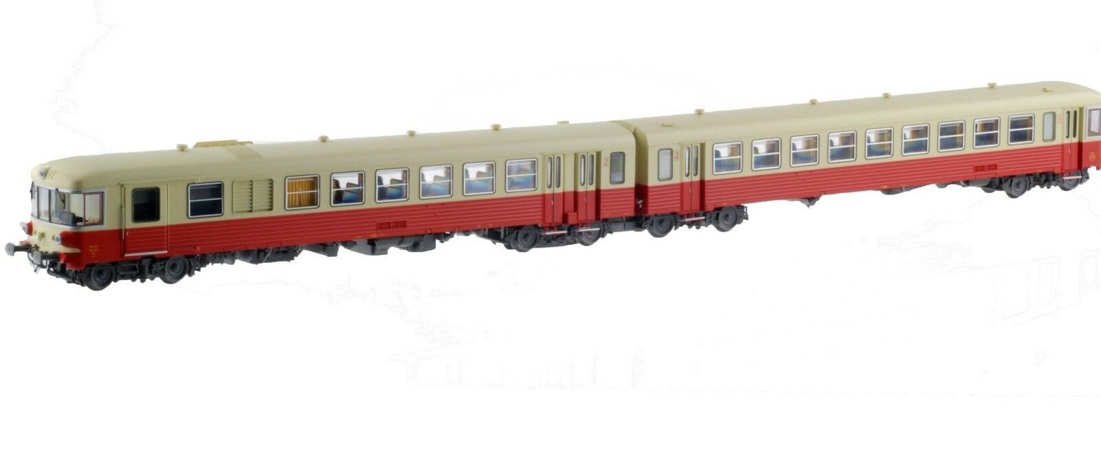 Ls Models 10062 SNCF SEAE x4500 2-tlg dieseltriebwagen rojo beige ep3 1 87 nuevo + embalaje original