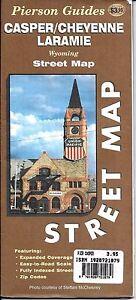Laramie Zip Code Map.Street Map Of Casper Cheyenne Laramie Wyoming By Pierson