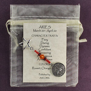 Details about ARIES ZODIAC CHARM Amulet Astrology Stars Sun Signs Planets  Horoscope Traits