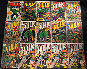 THE-INCREDIBLE-HULK-SILVER-BRONZE-AGE-COMIC-LOT-59PC-VG-VF