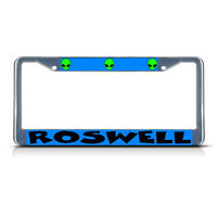Roswell Aliens Metal License Plate Frame Tag Border Two Holes