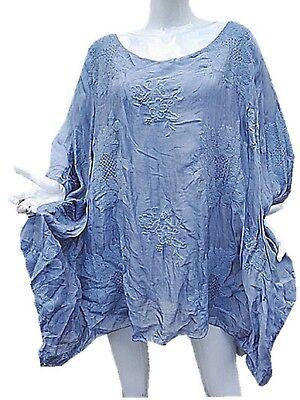 Ingegnoso Haut Top Tunique Grande Taille Femme 50 52 54 56 58 60 Soie Fluide Chic Mariage
