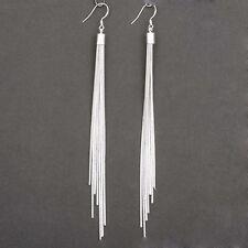 Women S Fashion Jewelry Silver Plated Long Hook Tels Drop Dangle Earrings Hot