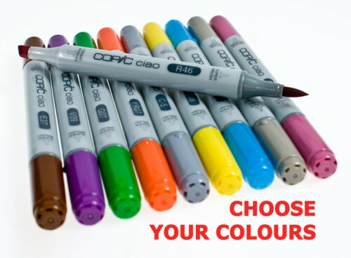 Copic Ciao Twin Tip Marker Pens All Colours - Code B, BG, BV, C