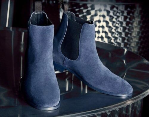 Caviglia blu Camoscio Navy Gore Alto Chelsea Fairmont Suola Scuro Soul36 Yq1xE1