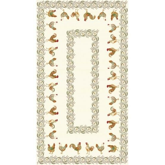 Nappe Chanteclair  2m50 1m50 - Tapis de table