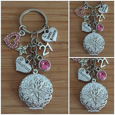 Personalised HAPPY BIRTHDAY Gifts Charm Keyring 18th 21st 30th Gift for her #3