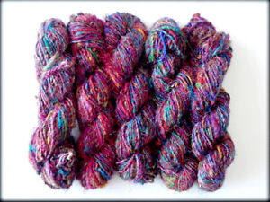 1000 Grams Himalaya Recycled PURE SILK SOFT Yarn Knit  Woven Crochet  A-Grade