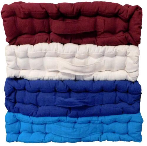 "Armchair Booster Cushion Size 45 x 45 x 10 cms Burgundy 18/"" x 18/"" x 4/"""