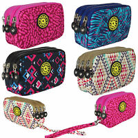 Fashion Designer Sport Wristlet Small Handbag 3 Zip Compartments Waterproof