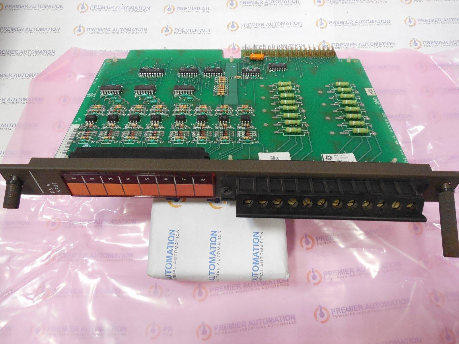 GE,IC600YB804B, S N 'S ,00684032 00694827,SERIES 6 ,115V INPUT MODULE