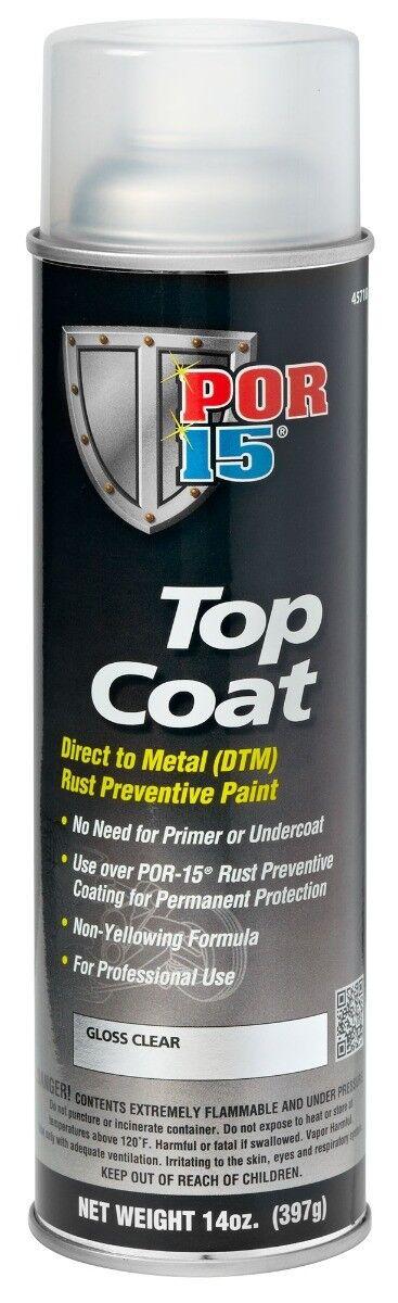 POR-15 Top Coat Gloss Clear Spray Paint