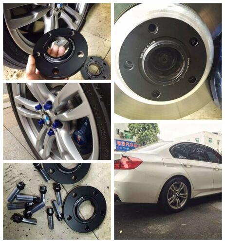 4 12mm+15mm Black Wheel Lug Spacers for BMW 420i 428i 430i 435i 440i 5x120 72.56