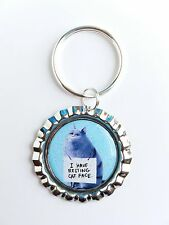 "THE SECRET LIFE OF PETS ""Chloe The Cat"" Bottle Cap with Keyring"