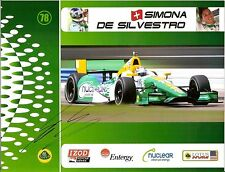 2012 SIMONA DE SILVESTRO signed INDIANAPOLIS 500 PHOTO CARD LOTUS INDY CAR RACE