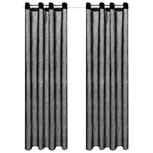 vidaXL 2x Gardine Bestickt Vorhang Fenstervorhang Dekoschal mehrere Auswahl
