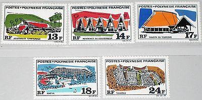 Konstruktiv French Polynesia Polynesien 1969 103-07 253-7 Buildings Gebäude Architecture Mnh Sonstige