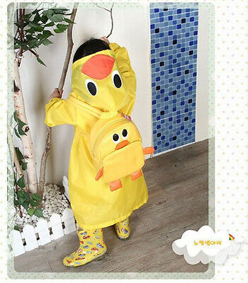 Multi-Color Novelty Cartoon Kids Toddler Boy Girl Hooded Rain Coat Raincoat JBUS
