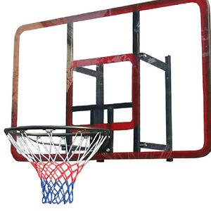 UN3F Standard Sports 3mm Nylon Thread Basketball Rim Mesh Net 12 Loops