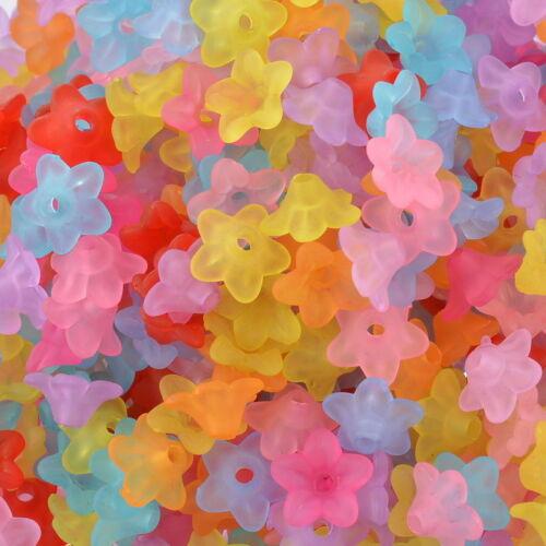 craft*diy 800 Mixte Perles Acrylique Dépolie Fleur 10x4mm