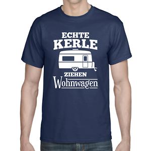 ECHTE-KERLE-ZIEHEN-WOHNWAGEN-Camper-Camping-Urlaub-Spass-Lustig-Comedy-T-Shirt
