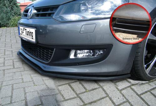 Spoilerschwert Frontspoiler Lippe ABS für VW Polo 5 6R mit ABE schwarz glänzend