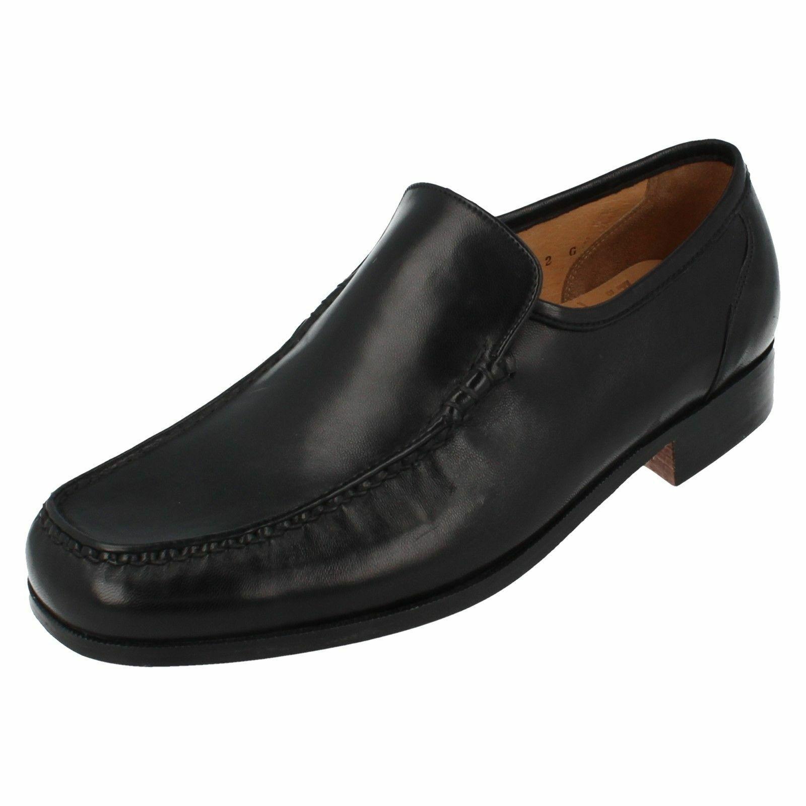 9669-01 Grenson Pour Homme À Enfiler Chaussures en cuir-Bari-Cuir Noir