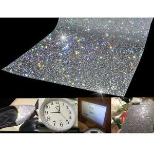 Crystal-Diamond-Rhinestone-Sticker-Sheet-Diamante-Self-Adhesive-Decal-Sliver-DIY