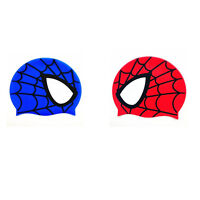 Silicone Spider-man Cute Swim Cap Bathing Cap For Kids,children, Girls And Boys