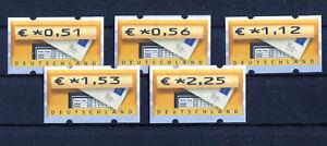 Bund-ATM-5-1-VS-2-sauber-postfrisch-Automatenmarken-BRD-Briefkasten-MNH