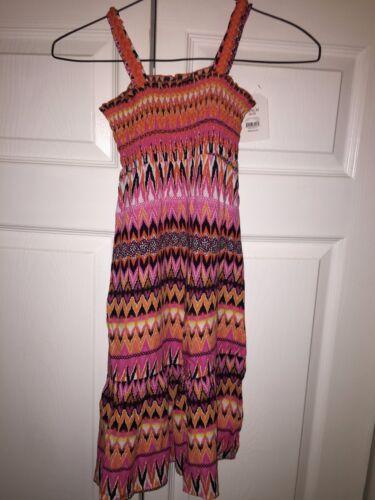 Faded Glory Girls/' Smocked Challis Maxi dress 100/% rayon red tones