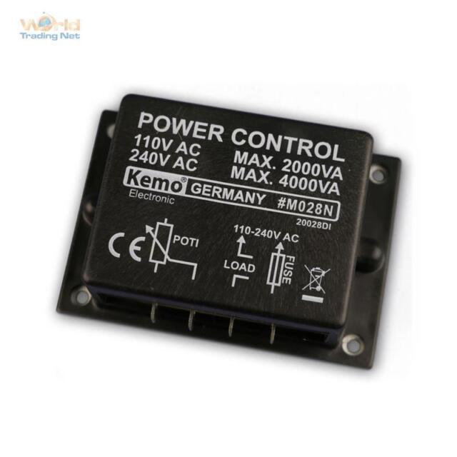 Kemo M028N Regolatore di Potenza Dimmer Modulo Unità Controllo Carico 4000W