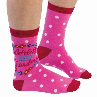Cockney Spaniel World/'s Best Mum Pair Socks Ladies Cotton 4-8 Mothers Day Gift