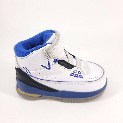 Air Jordan 2.5 Team Baby Shoes 332099-171 Size 4C White / Blue   eBay