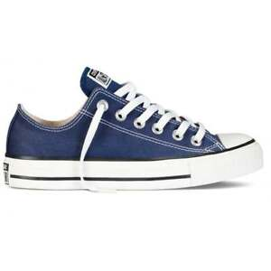 Converse Chuck Taylor Ox Low Top Navy Blue White Mens Womens Shoes ... 382b71e9e