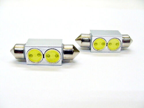 39mm Cool White Interior Courtesy Dome Light Bulbs LEDs Lamp Lens 1965-95 Ford