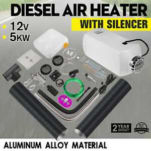 12V-5KW-Diesel-Air-Heater-Tank-Vent-Duct-Silencer-Aluminum-alloy-Car-Motorhome