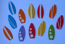6 edible SURF BOARDS CUPCAKE TOPPER decoration surfboard WEDDING beach party