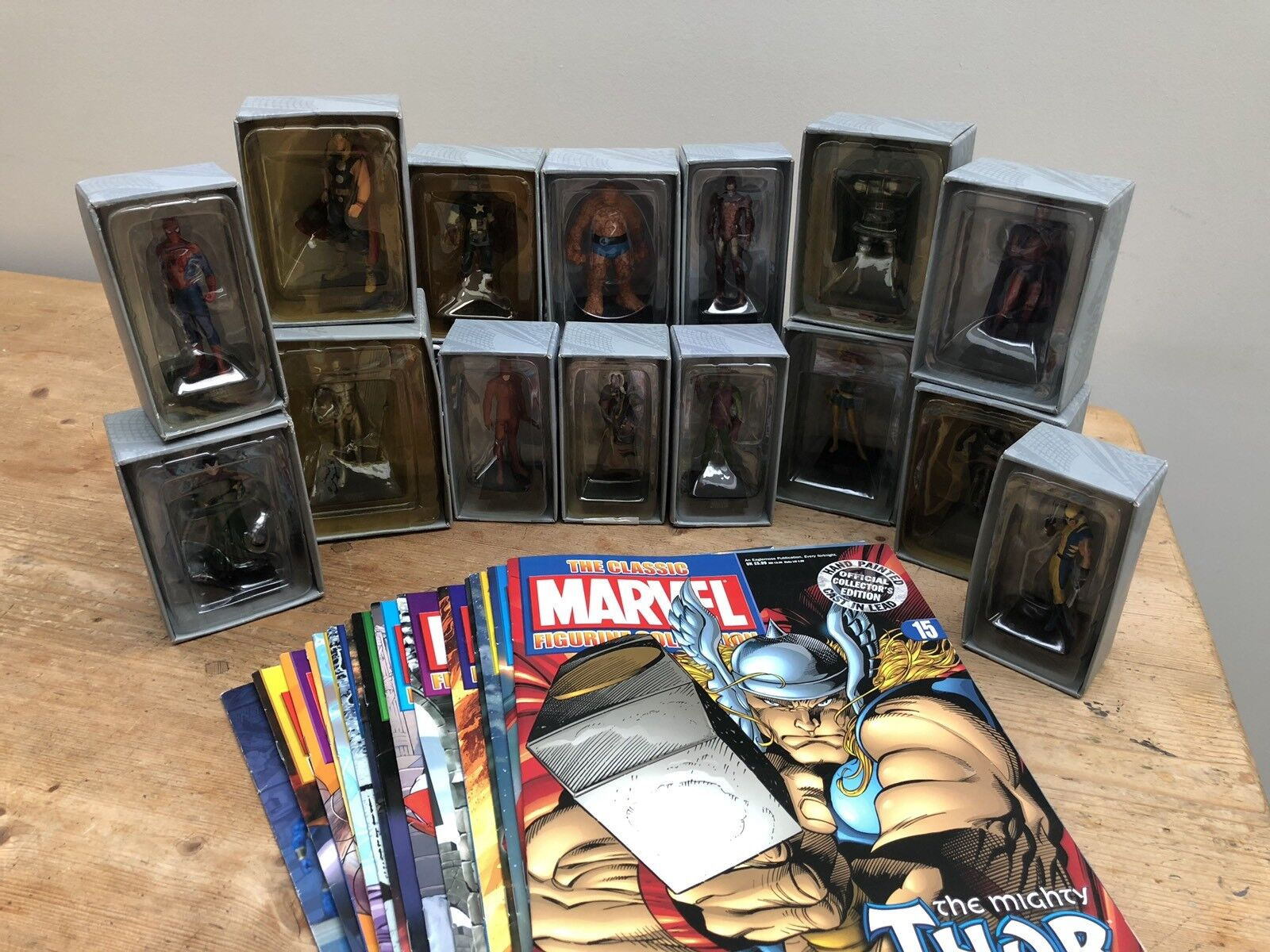 The Classic Marvel Figurine Collection - Issues 1-15 Boxed with Magazines
