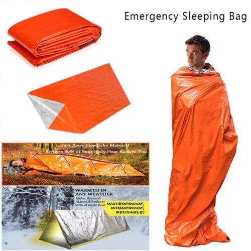 Outdoor Emergency Thermal Waterproof Sleeping Bag Camping Survival Bivvy Sack DE