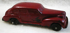Vintage Auburn Toy Rubber Car 4-Door Red Sedan 1930-1940 Oldsmobile