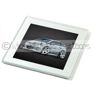 WickedArtz-Cartoon-Car-Vauxhall-Zafira-B-VXR-SRi-2009-Premium-Drinks-Coaster