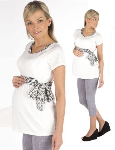 Umstandsshirt Longshirt Shirt Umstand Kurzarm Top Tunika Schwanger Camilla