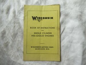 1943-Wisconsin-single-cylinder-air-cooled-engine-instruction-book-manual